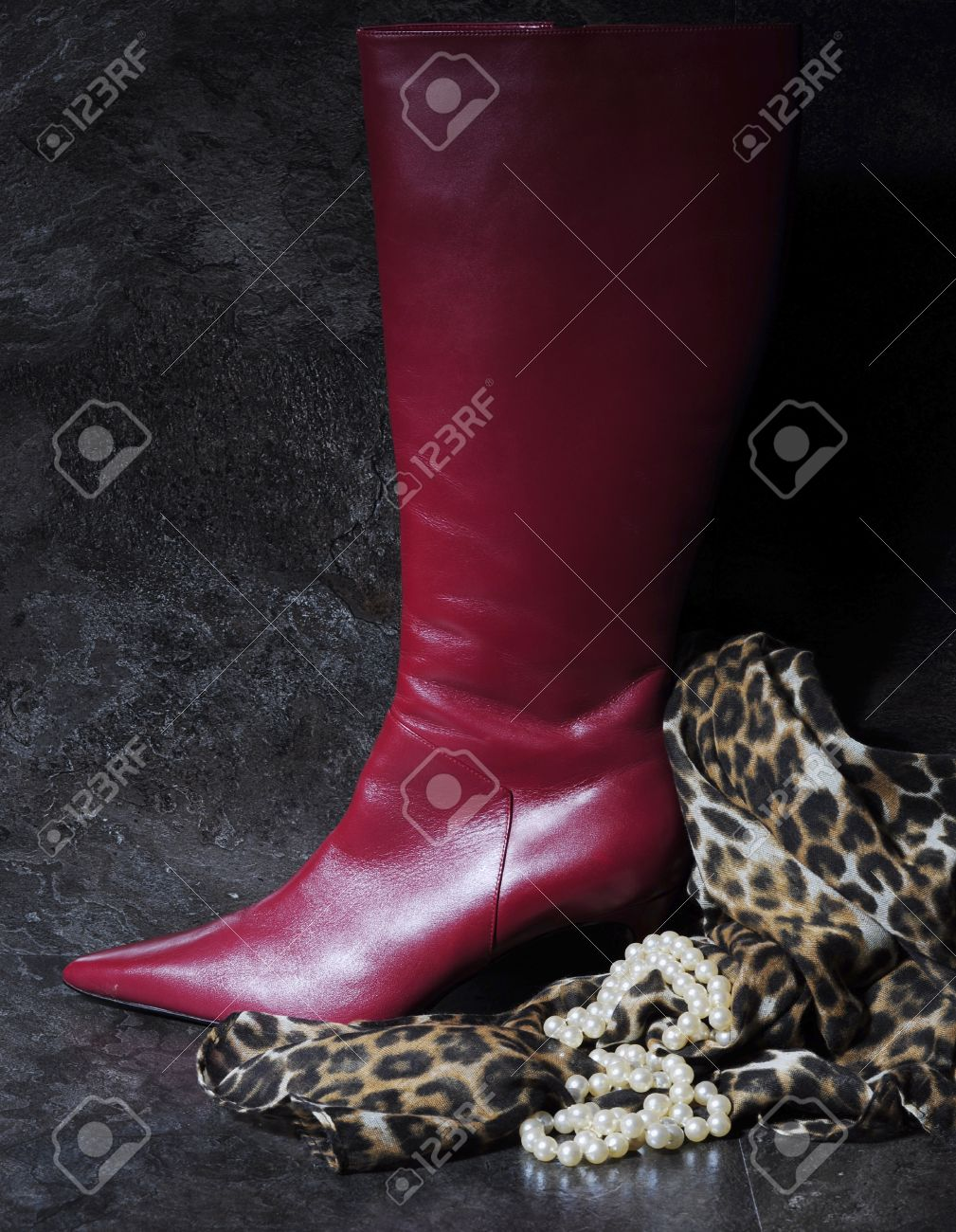 animal print tall boots
