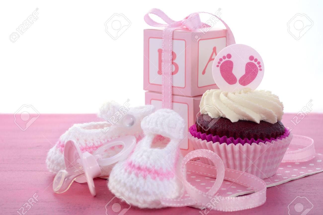 Sein Ein Madchen Babyparty Kuchen Baby Fusse Mit Topper Und