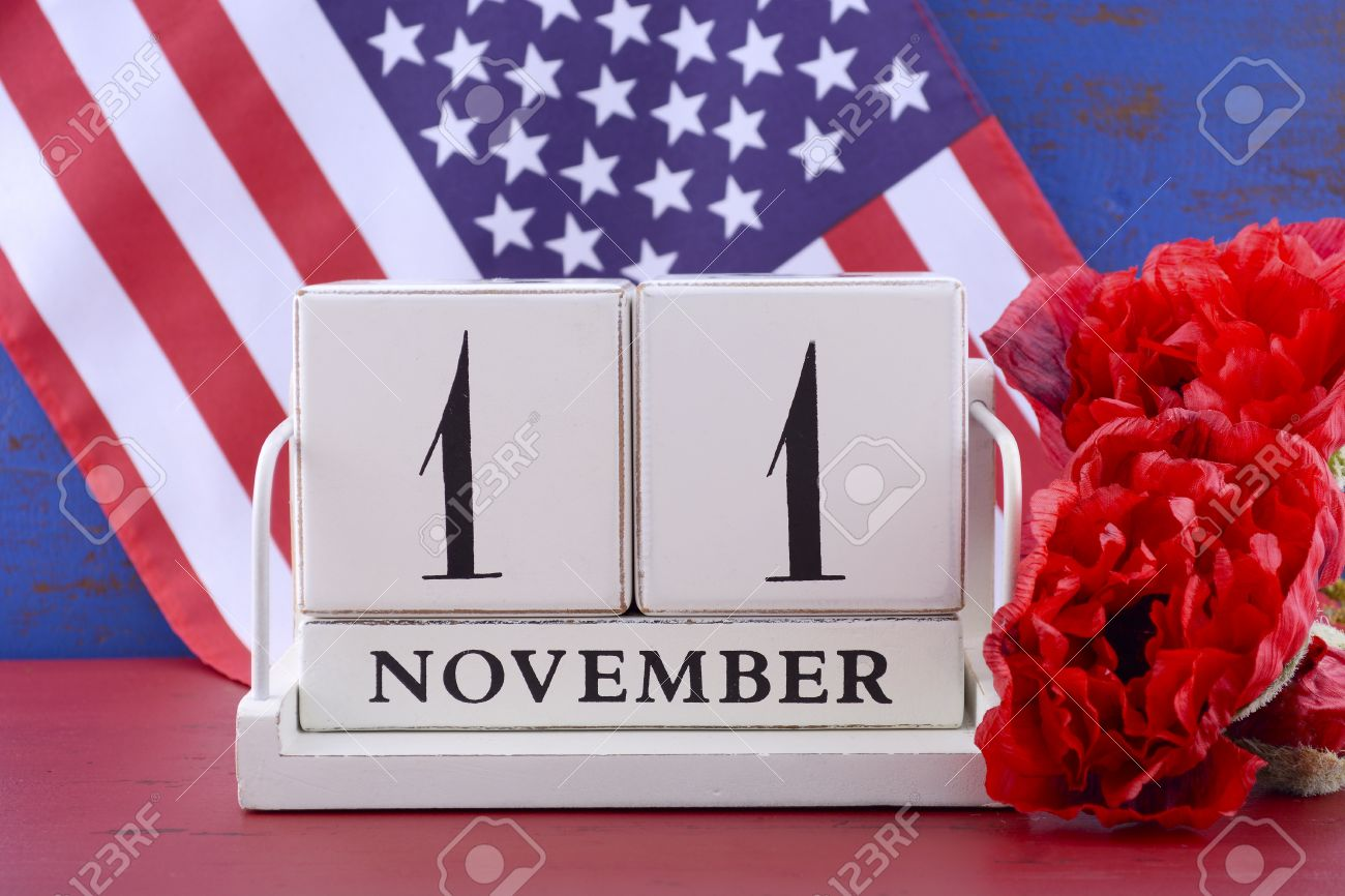 Vintage style wood block calendar for november 11 usa veterans vintage style wood block calendar for november 11 usa veterans day with stars and publicscrutiny Image collections