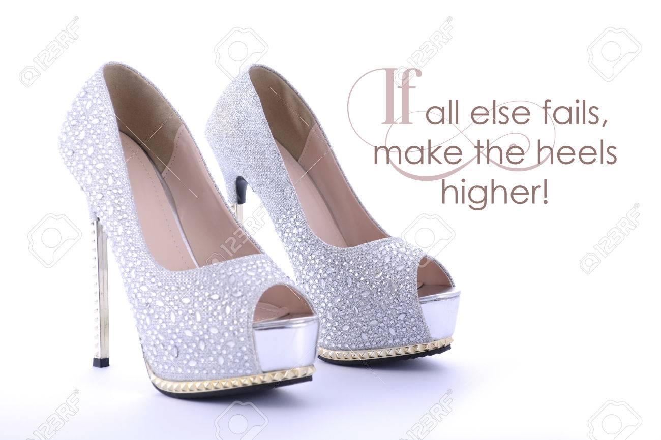 037ac92c7546 High Heel Rhinestone Stiletto Shoes With Funny Saying