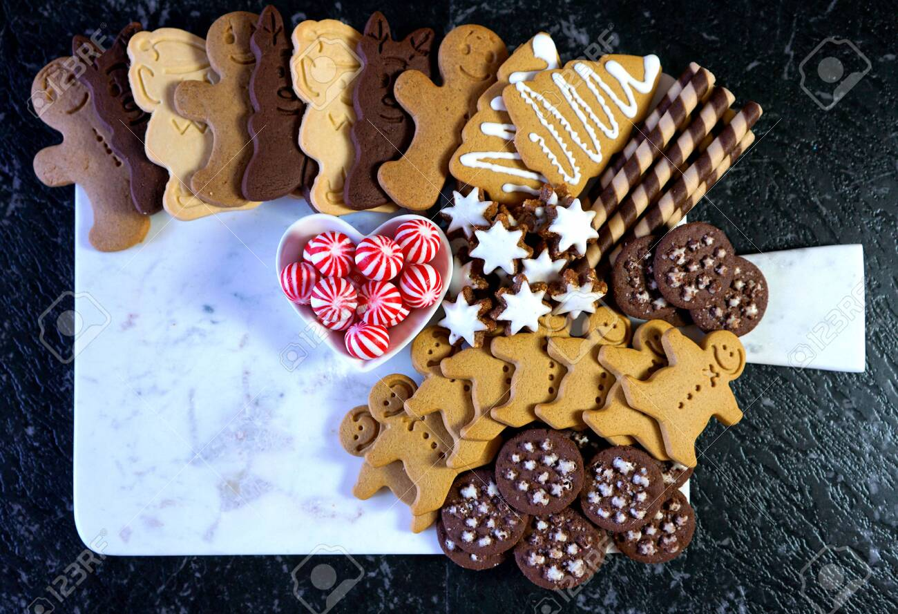 Happy Holidays Christmas Large Dessert Grazing Platter Board Stock Photo Picture And Royalty Free Image Image 134166123