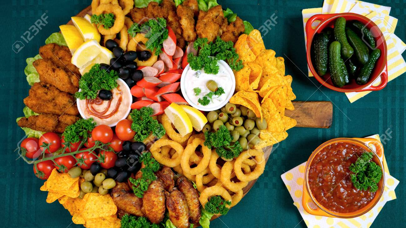 Party Food Charcuterie Meat And Snack Grazing Platter Stock Photo Picture And Royalty Free Image Image 135918665