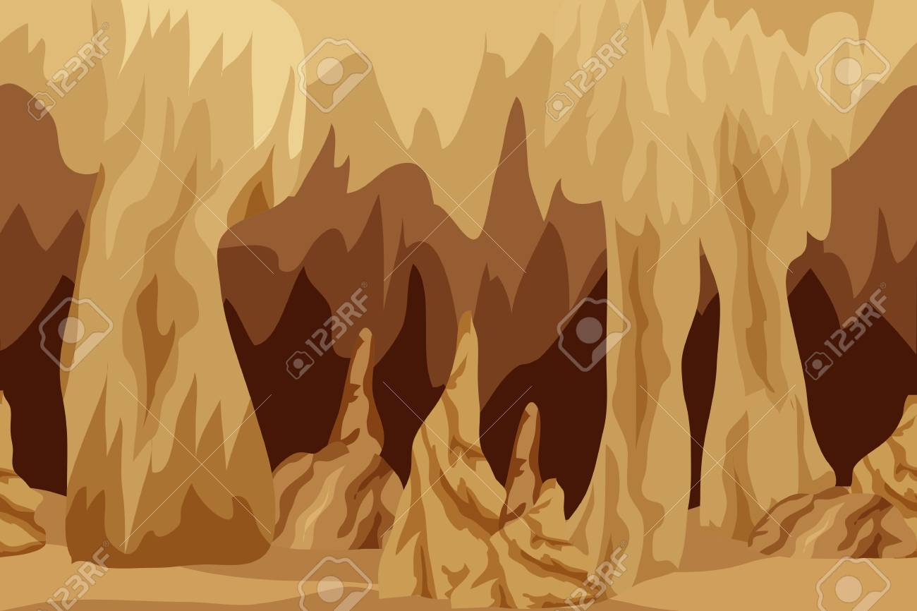Underground Cave Landscape Background For Cartoon Or Adventure Royalty Free Cliparts Vectors And Stock Illustration Image 110546006