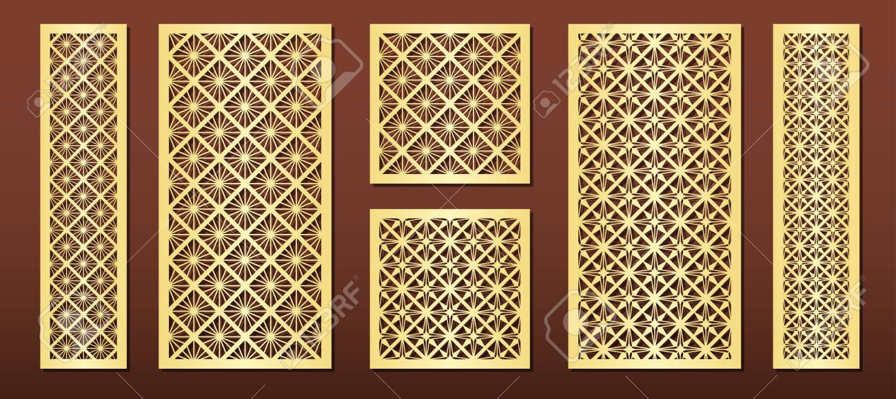 Laser Cut Panels With Geometric Pattern In Arabic Islamic Design Royalty Free Cliparts Vectors And Stock Illustration Image 132545049