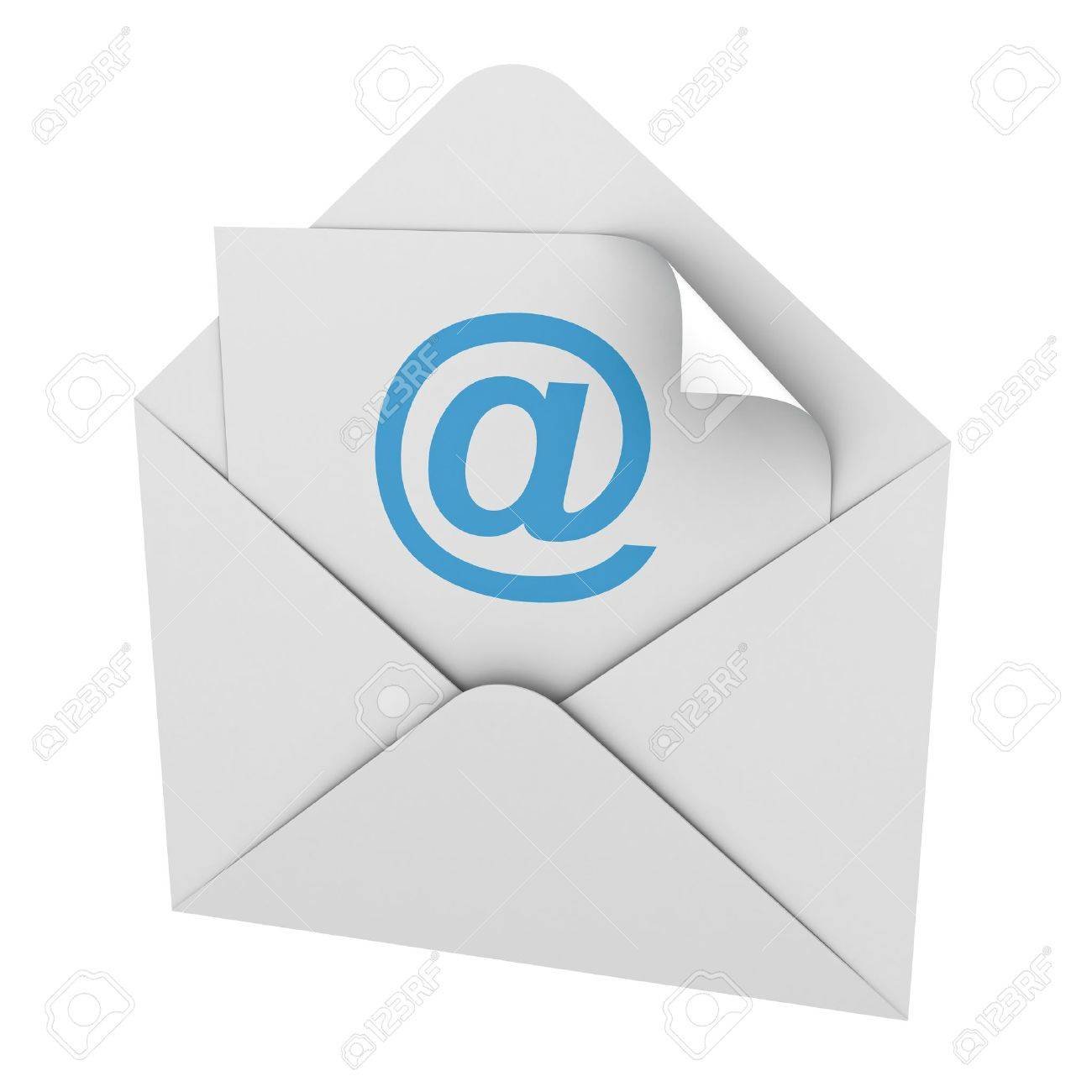E mail concept isolated on white background Stock Photo - 12432571
