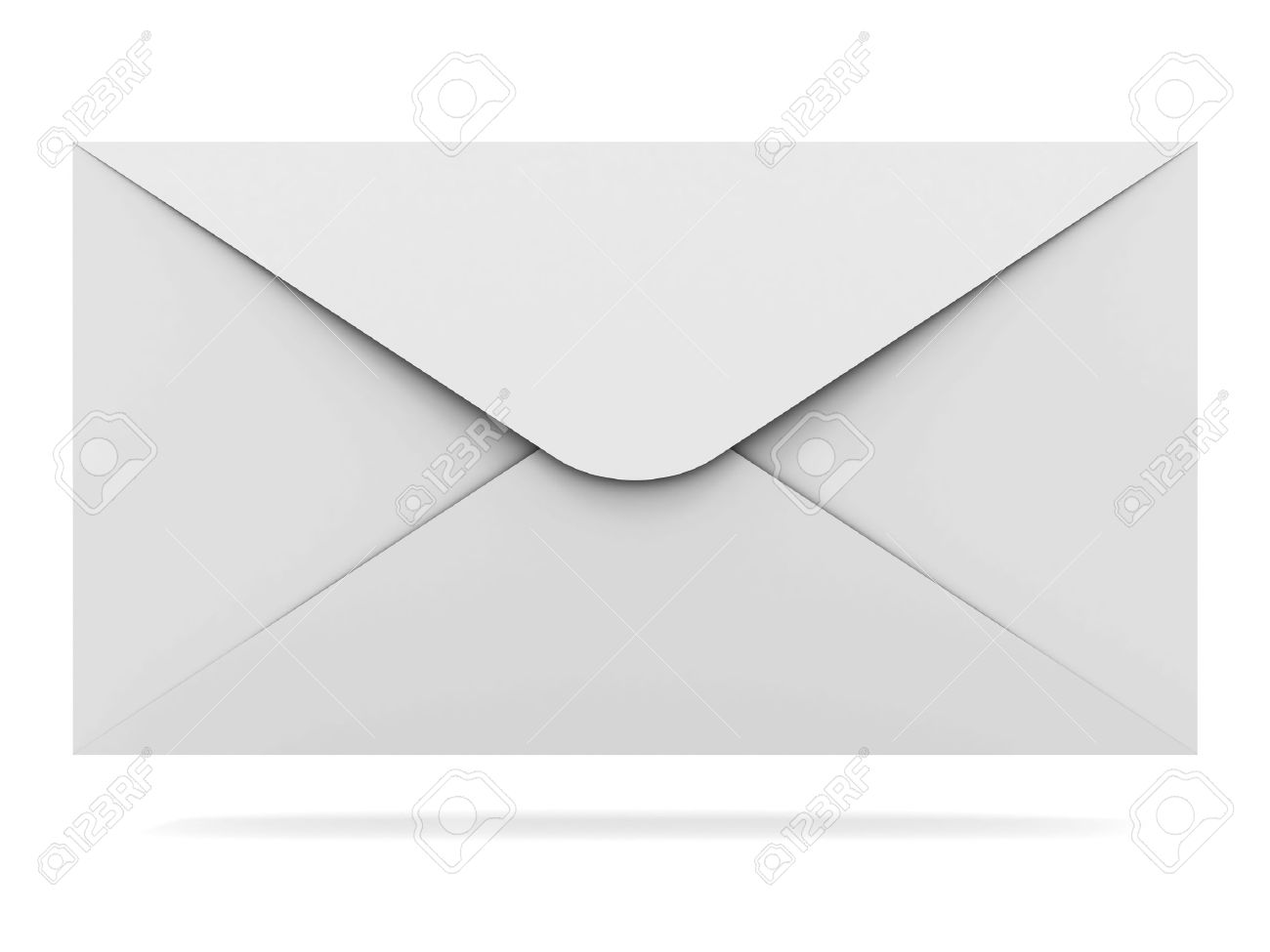 Mail envelope isolated on white background with shadow Stock Photo - 12432535