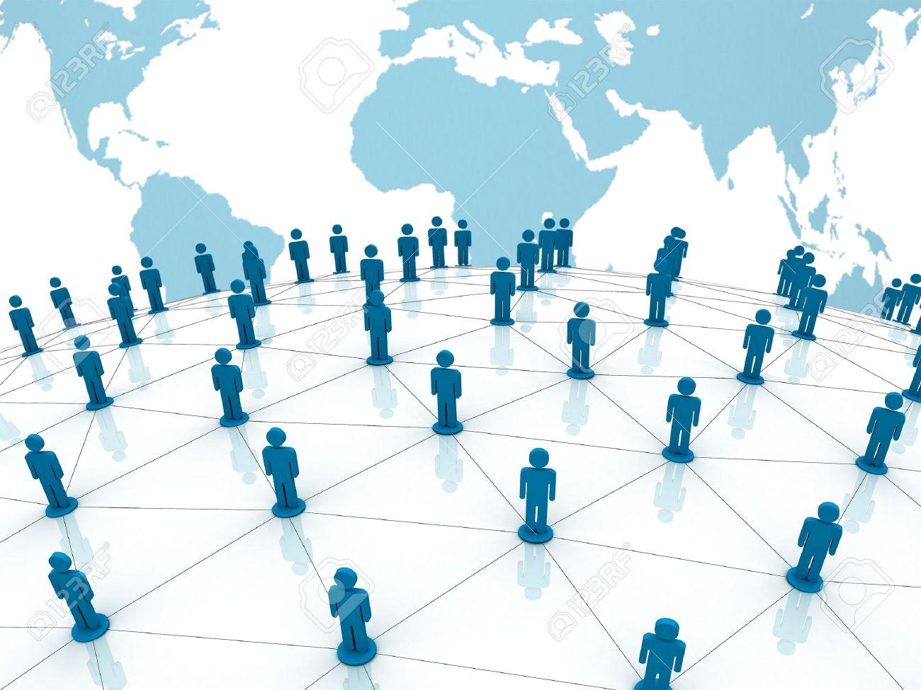 世界世界地図背景に社会的ネット...