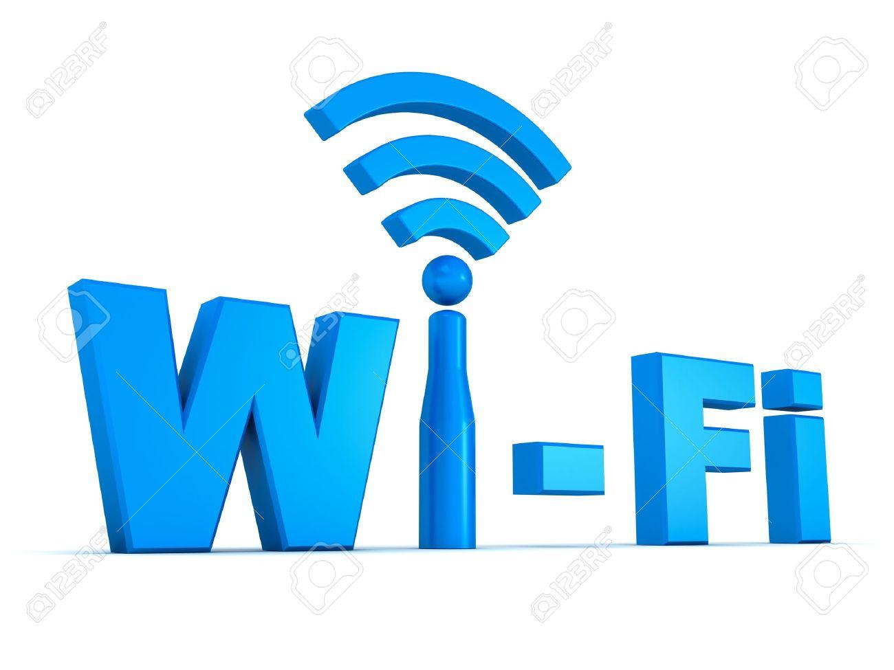 Wifi icon concept isolated on white background Stock Photo - 12432516