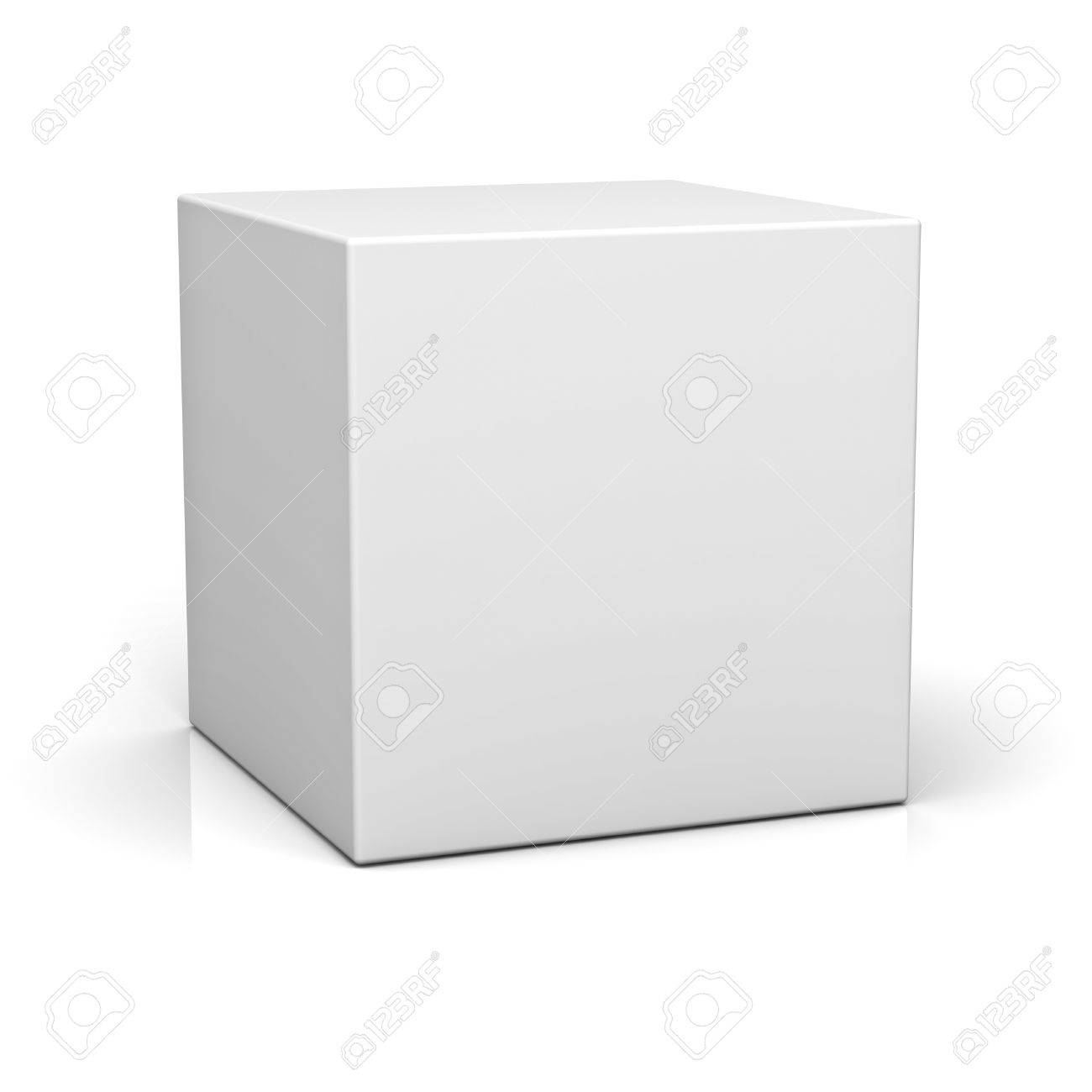 Blank box on white background with reflection Stock Photo - 14308064