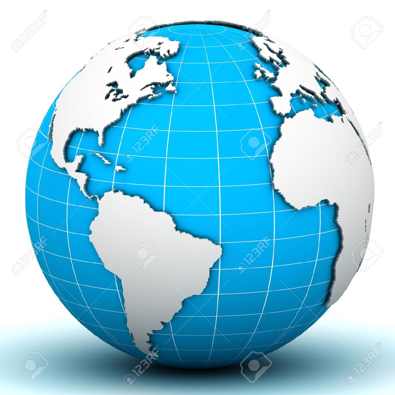 World Globe Map Stock Photo, Picture And Royalty Free Image. Image