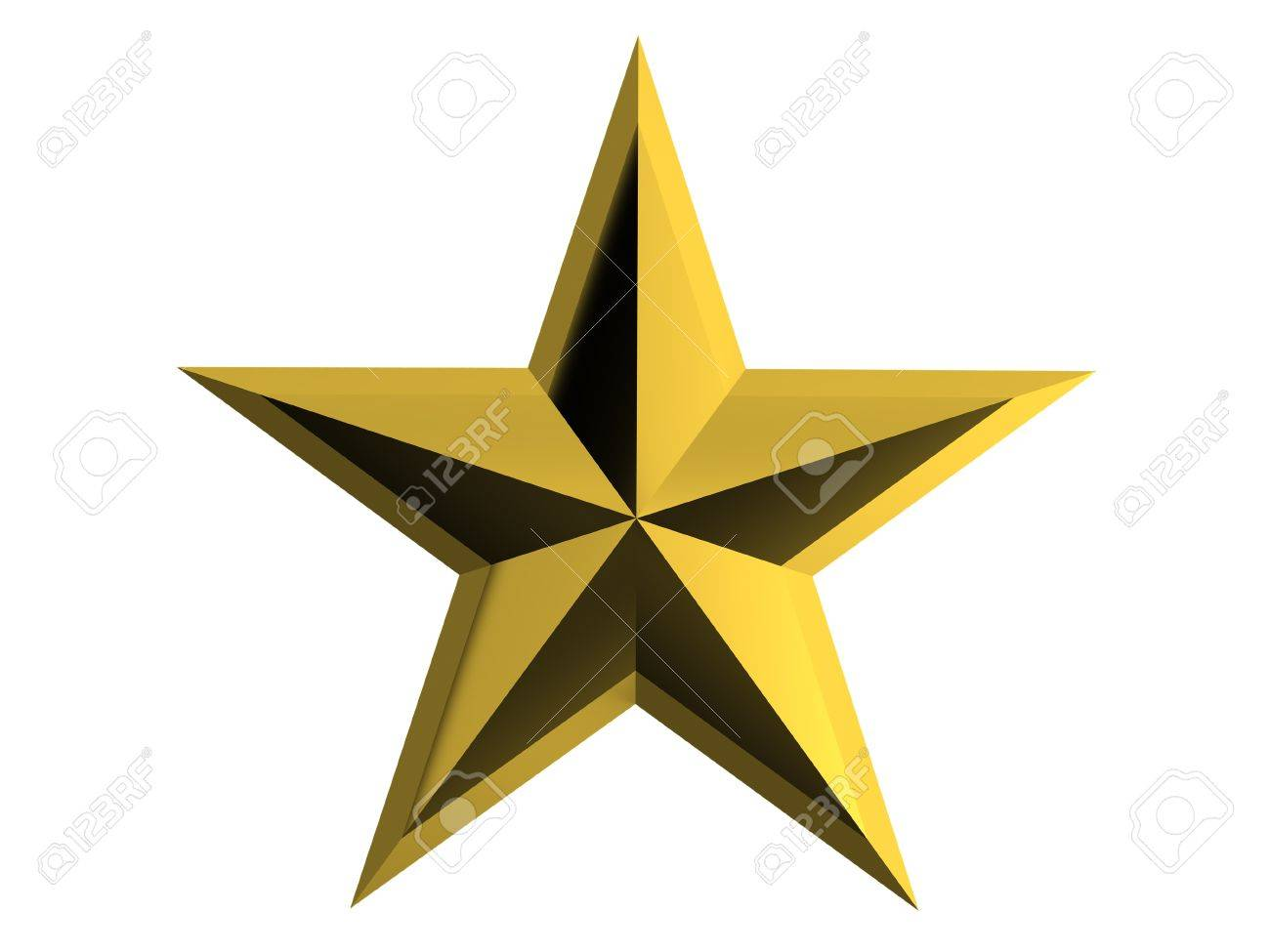 Gold star isolated over white background Stock Photo - 14821458