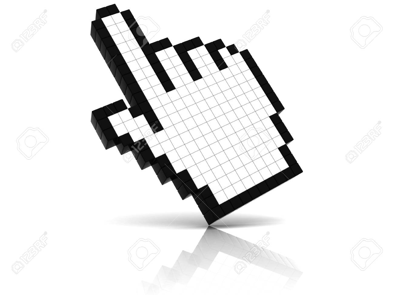 Hand Cursor With Reflection Stock Photo - 14821487