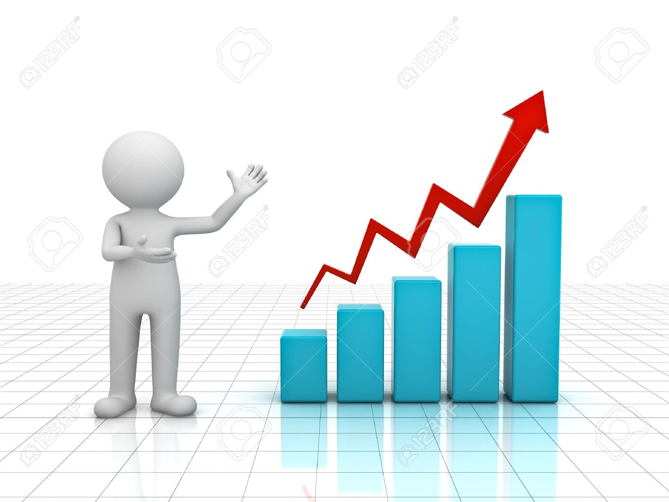 3d man presenting business growth chart graph over white 3d man presenting business growth chart graph over white background stock photo 15710553 nvjuhfo Gallery