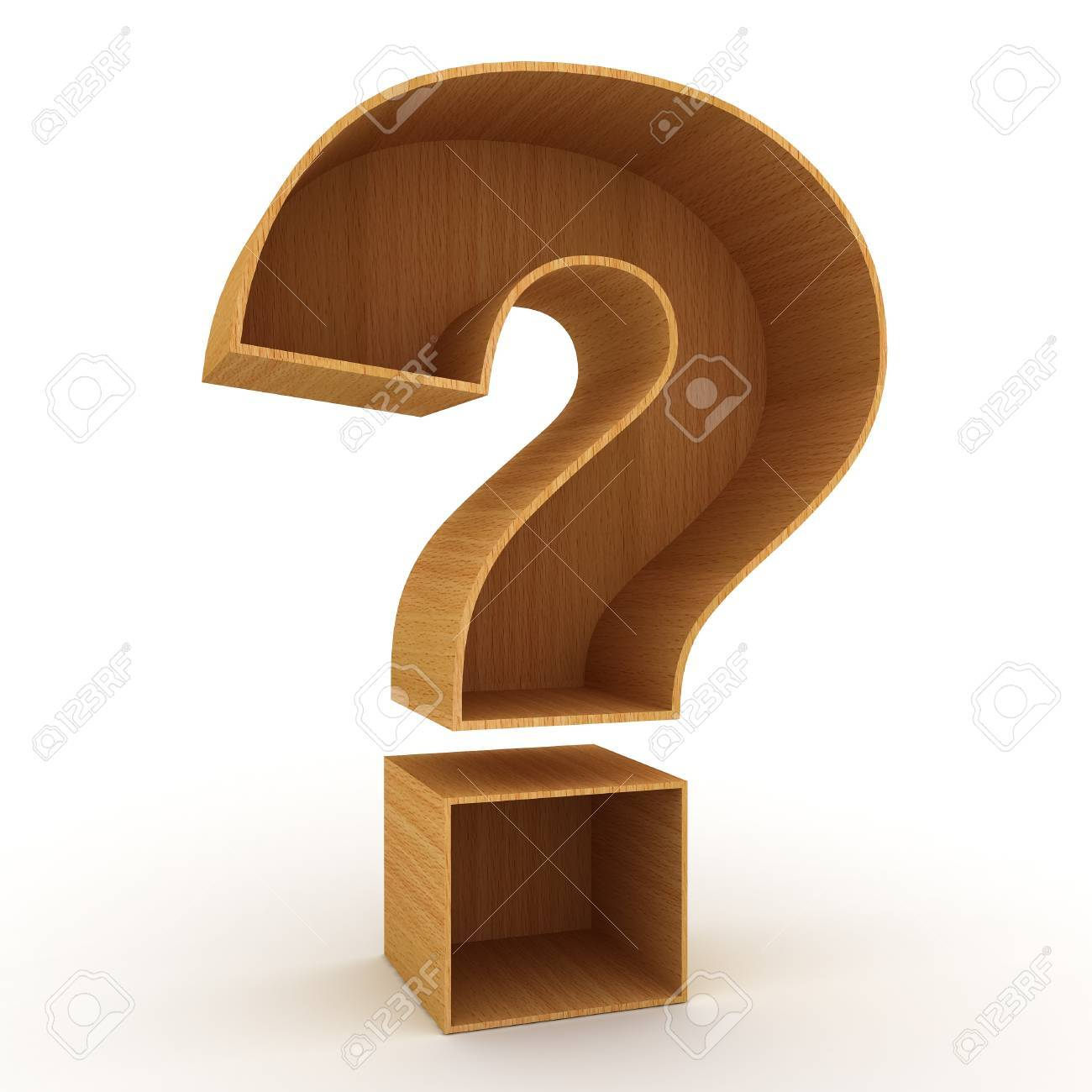 Question mark sign over white background Stock Photo - 18853293