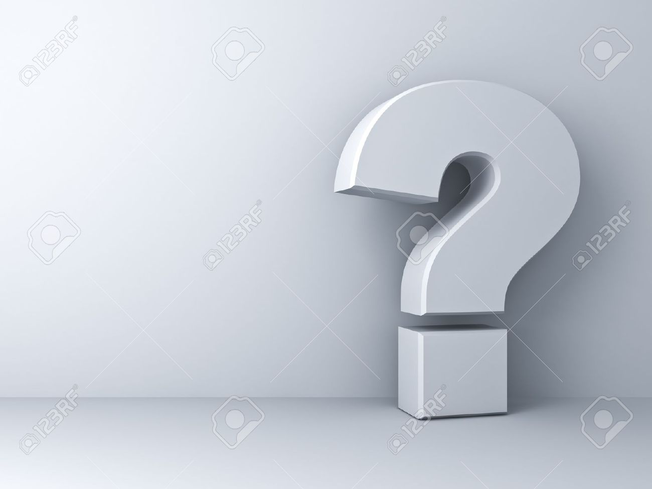 Question mark on white background - 20197217