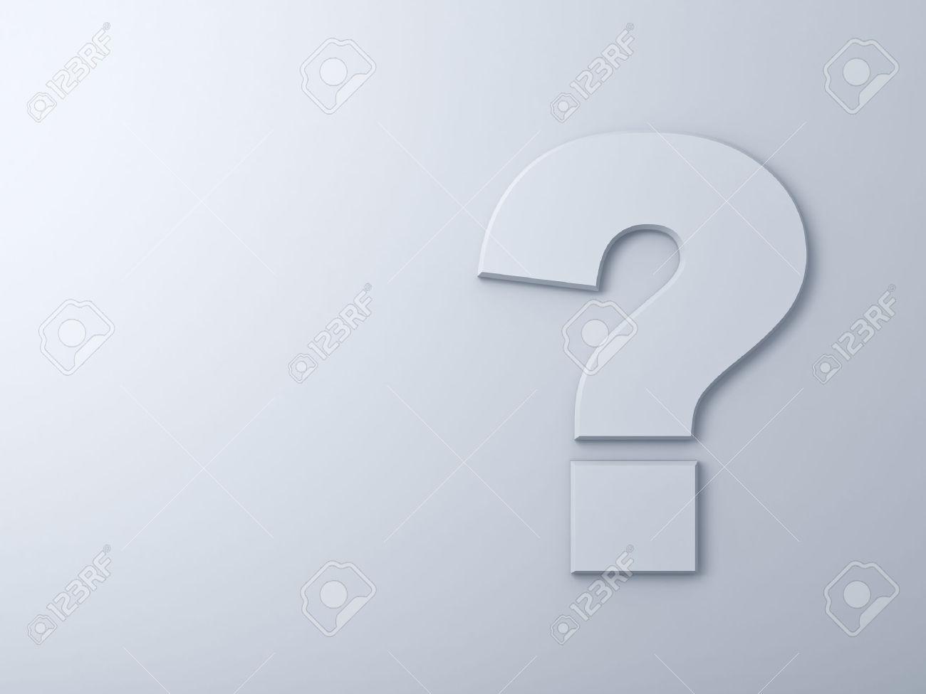 Résumé d'interrogation sur fond blanc mur Banque d'images - 40257557