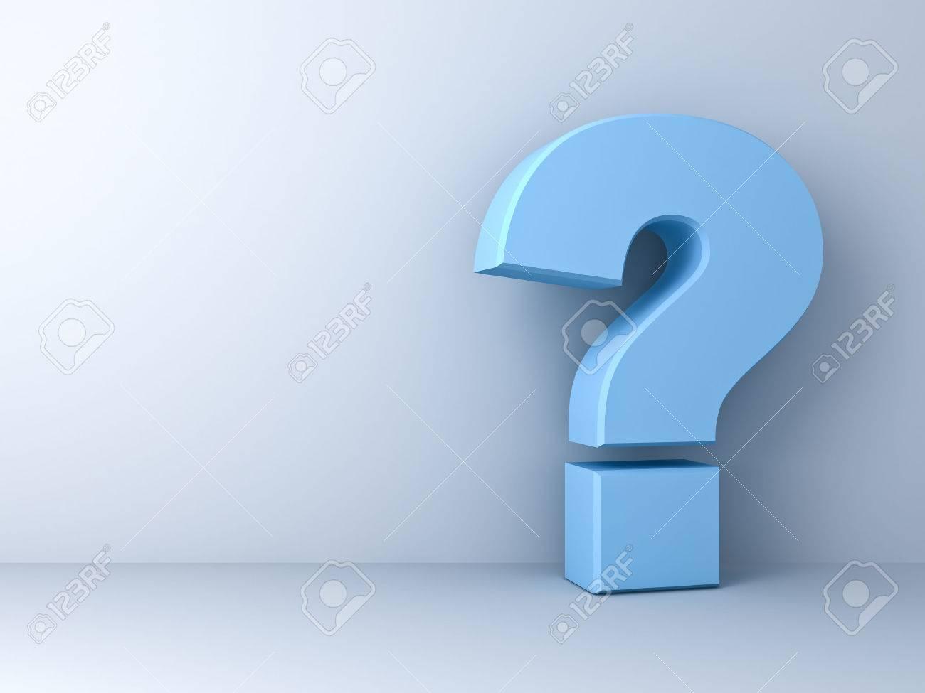 Point d'interrogation sur fond blanc Banque d'images - 41823466