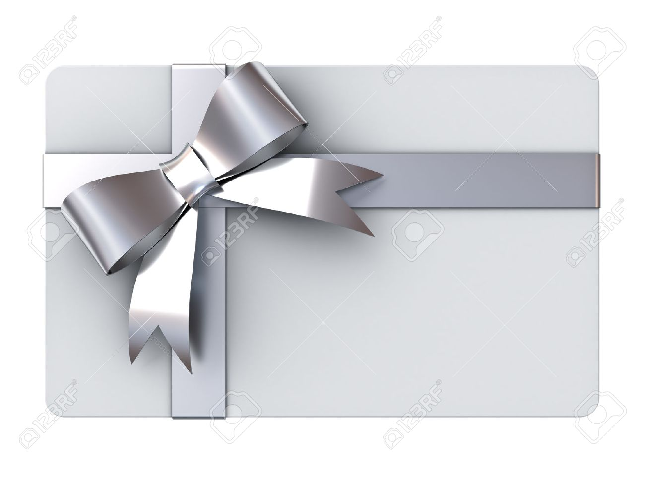 Blank gift card with silver ribbons and bow isolated on white blank gift card with silver ribbons and bow isolated on white background stock photo 49132357 negle Gallery