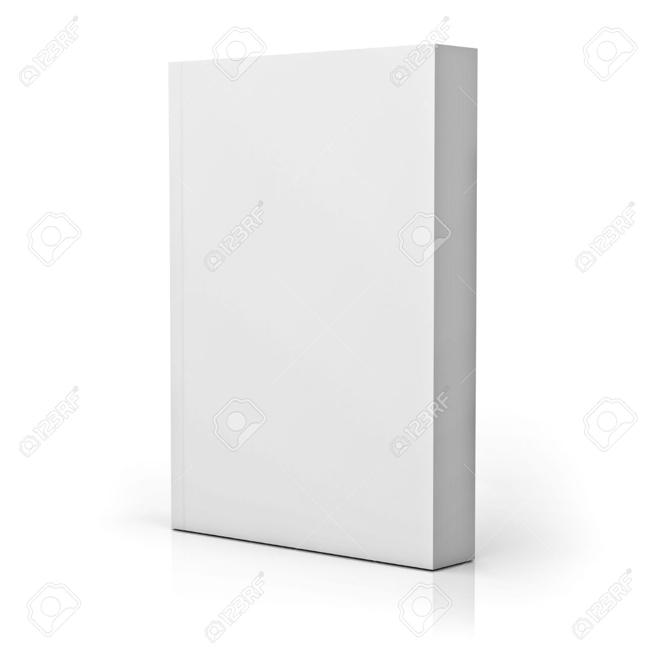 Blank paperback book cover isolated over white background with reflection. 3D rendering. Banque d'images - 54632795
