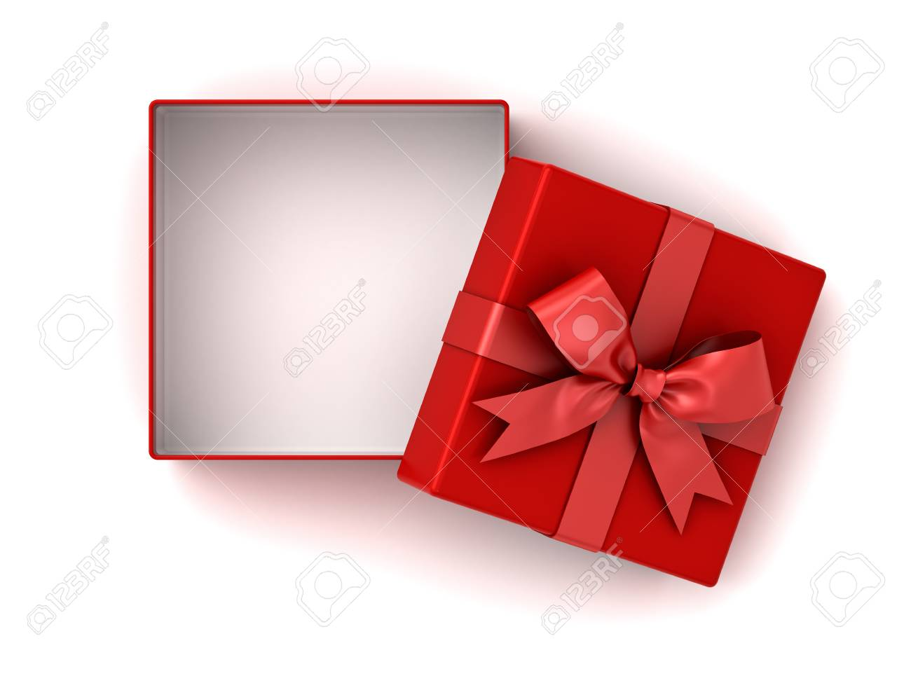 Gift box with bow Round Open Red Gift Box Red Present Box With Red Ribbon Bow And Empty Space In 123rfcom Open Red Gift Box Red Present Box With Red Ribbon Bow And Empty