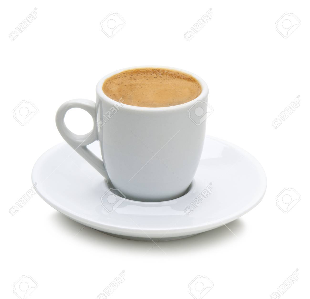 Greek Coffee In A White Cup Isolated On A White Background Path