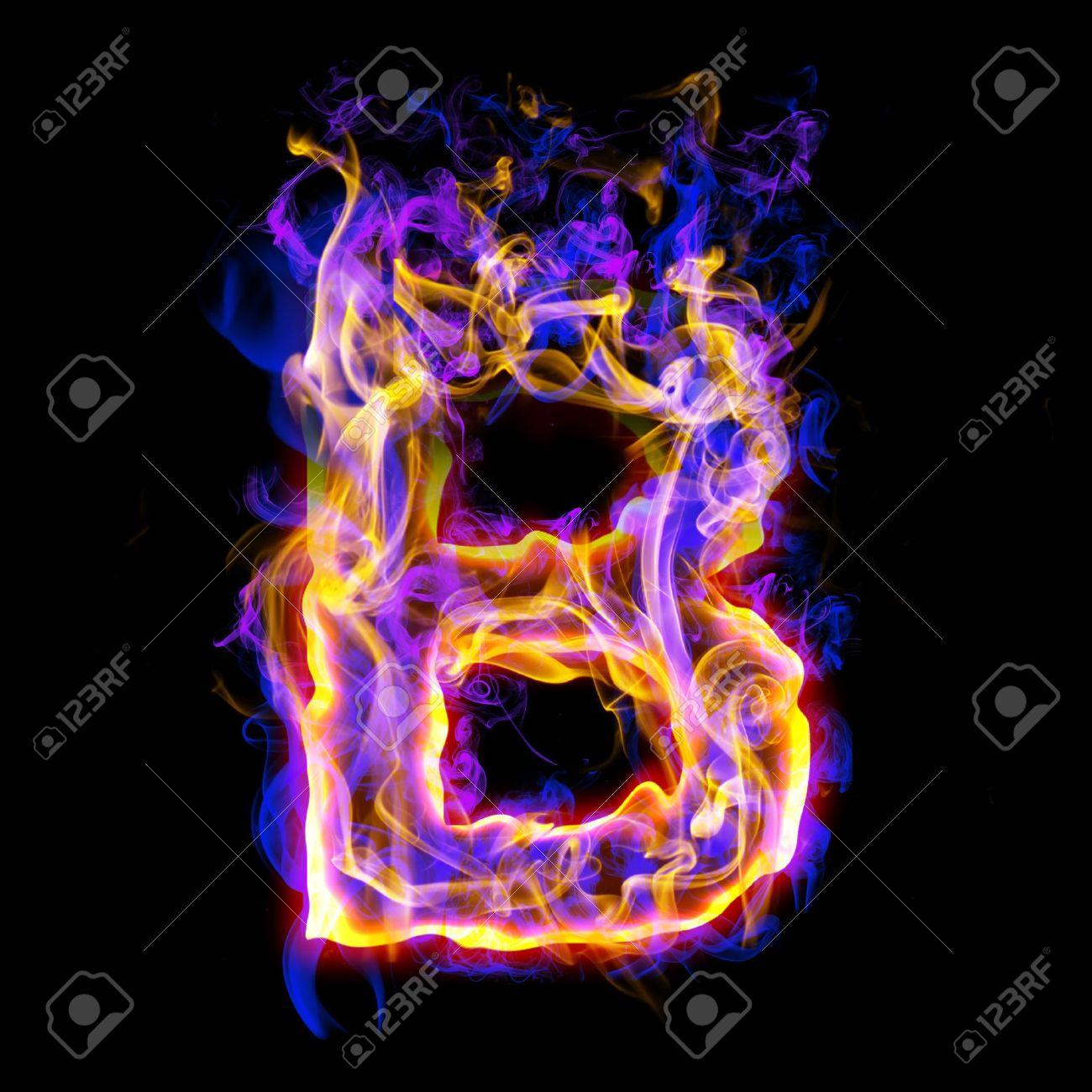 B Letter In Fire Letter B  letter  letters