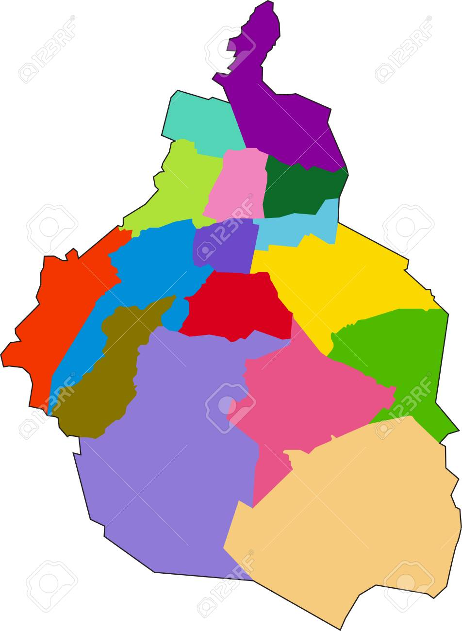 Mexico City Map Royalty Free Cliparts, Vectors, And Stock ... on