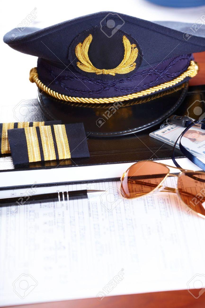 Plan De Sombrero De Piloto De Línea Aérea Profesional Y Titular De ...