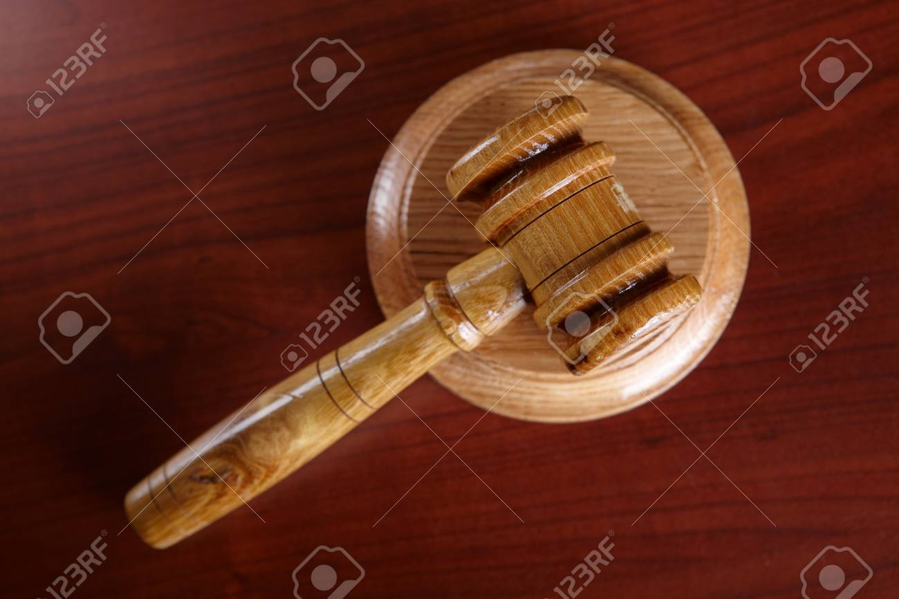 Judges wooden gavel Stock Photo - 8887442