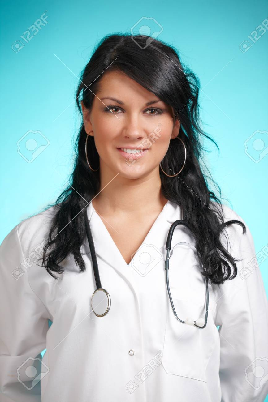 Medicine doctor, woman with stethoscope Stock Photo - 11367330