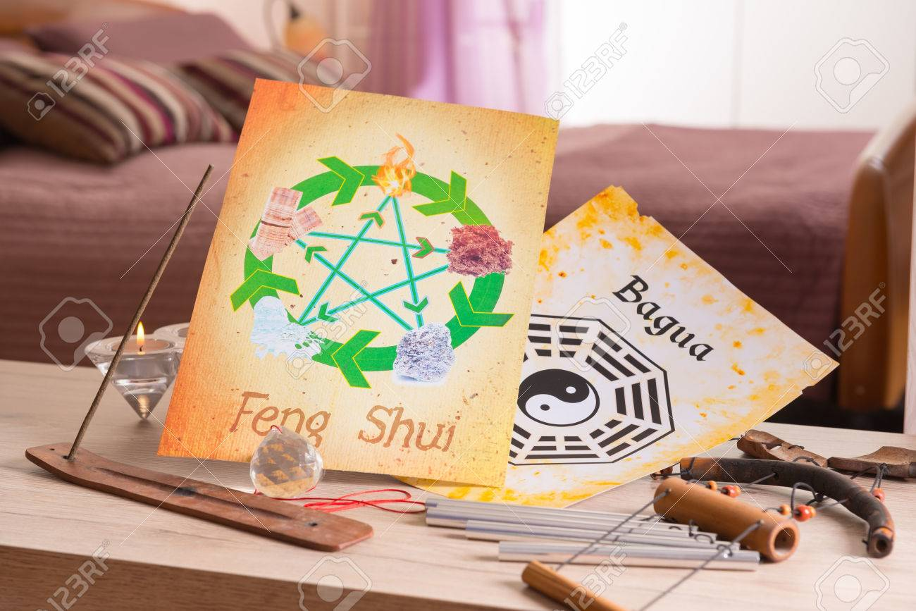 Conceptual image of Feng Shui with five elements - 56416926