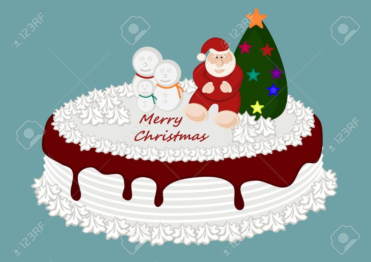 Christmas Cake Stock Vector - 22077687