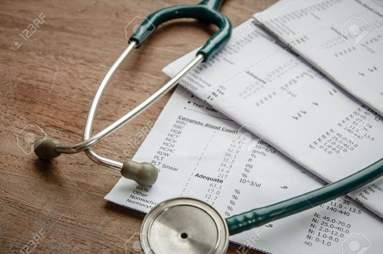 stethoscope and laboratory result, Medical insurance concept. - 31388693