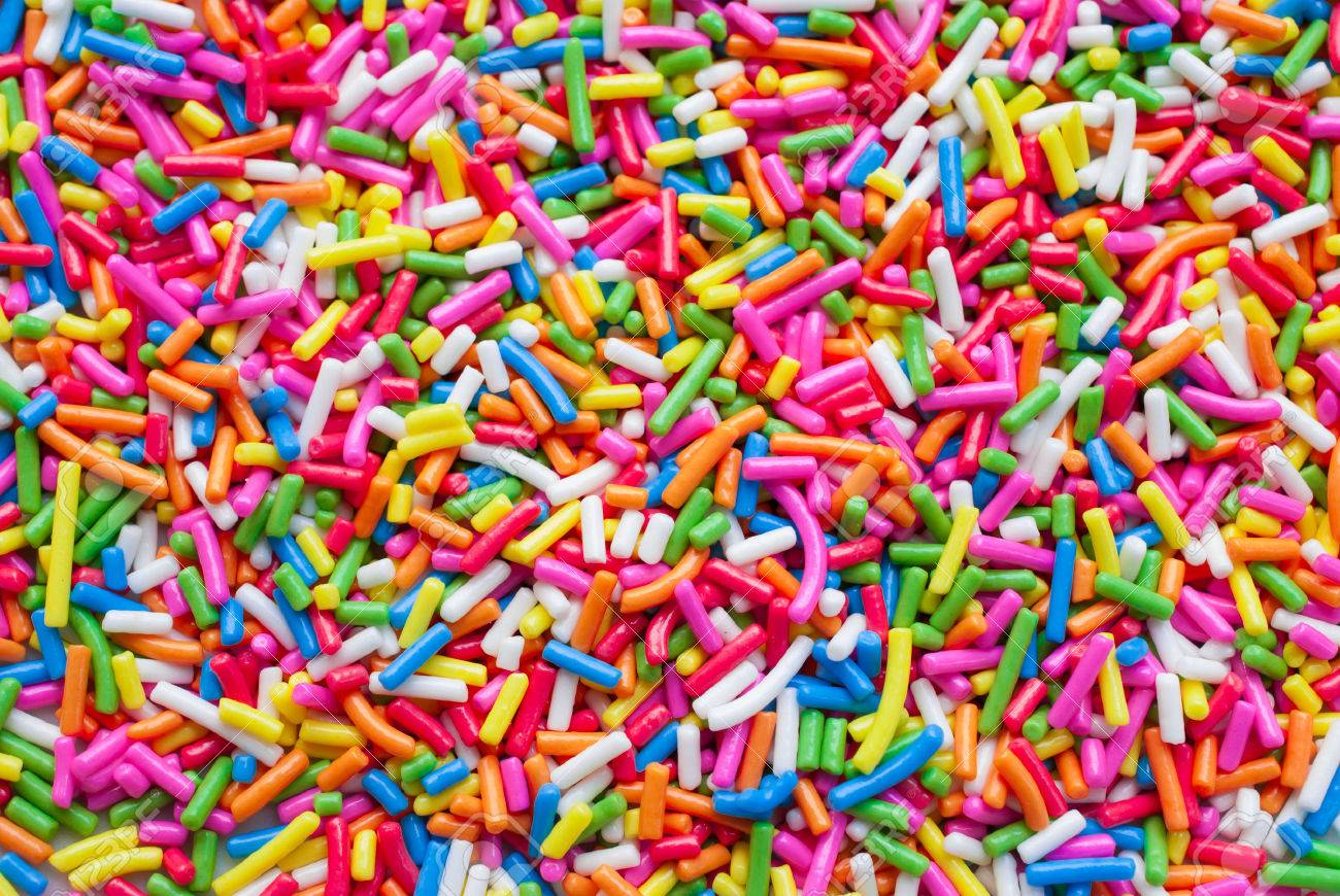 Sugar sprinkle dots, decoration for cake and bekery, a lot of sprinkles as a background - 41579086