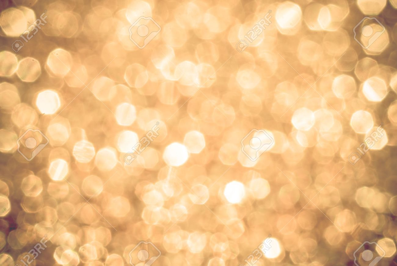 yellow white boken background lights, blurred out of focus, shiny glittery lights or circle shapes, Christmas background - 41579118