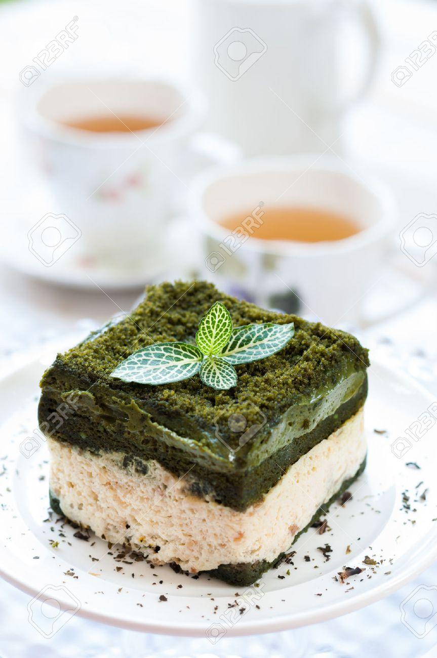 Japanische Sussigkeiten Kuchen Des Grunen Tees Japanische Matcha