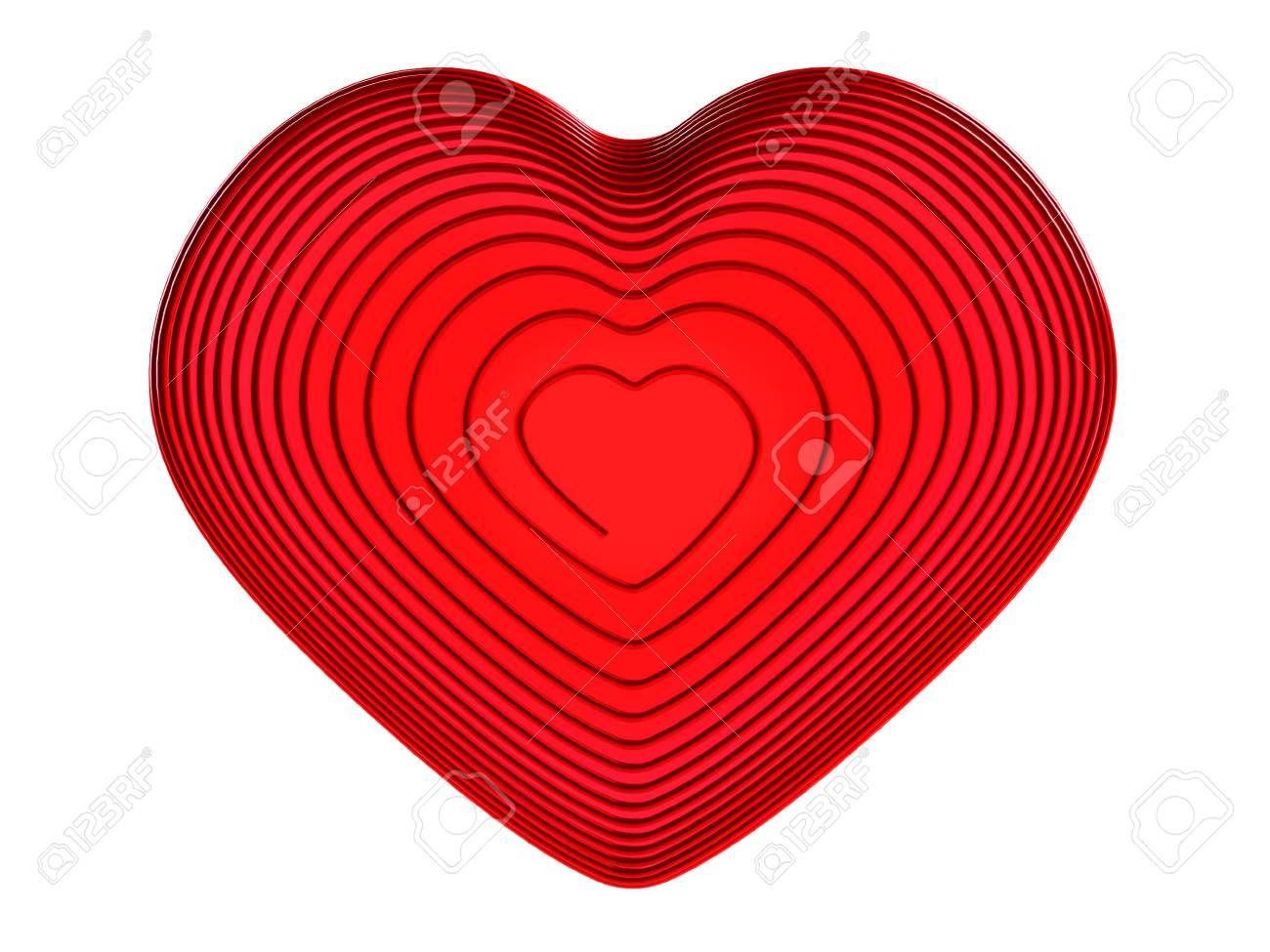 Roter Draht Herzen. Liebe Symbol.The Hintergrund Für Valentine ...