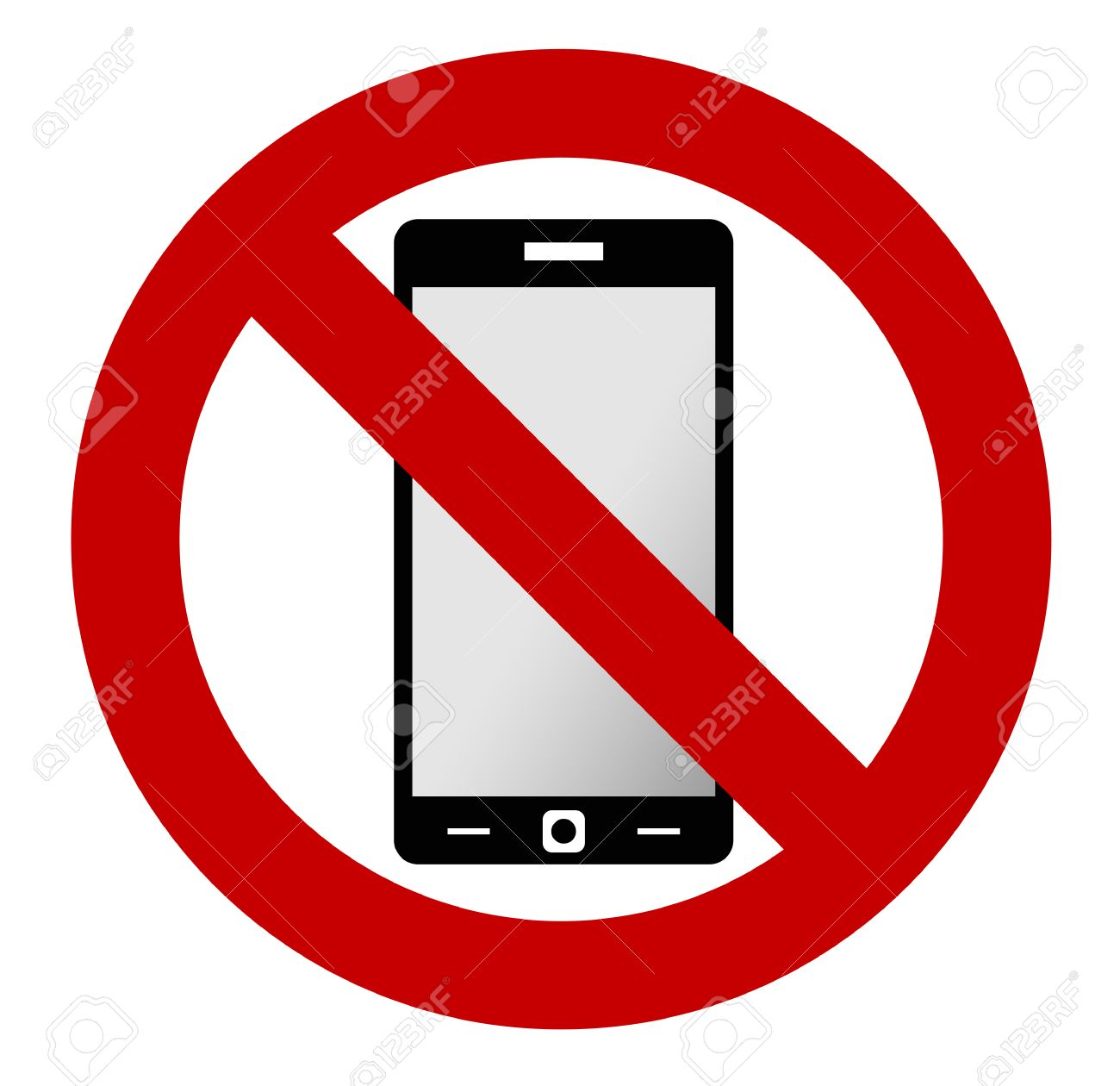 no mobile phone allowed sign turn off mobile phone no cell rh 123rf com no cell phone clipart no cell phone clip art free