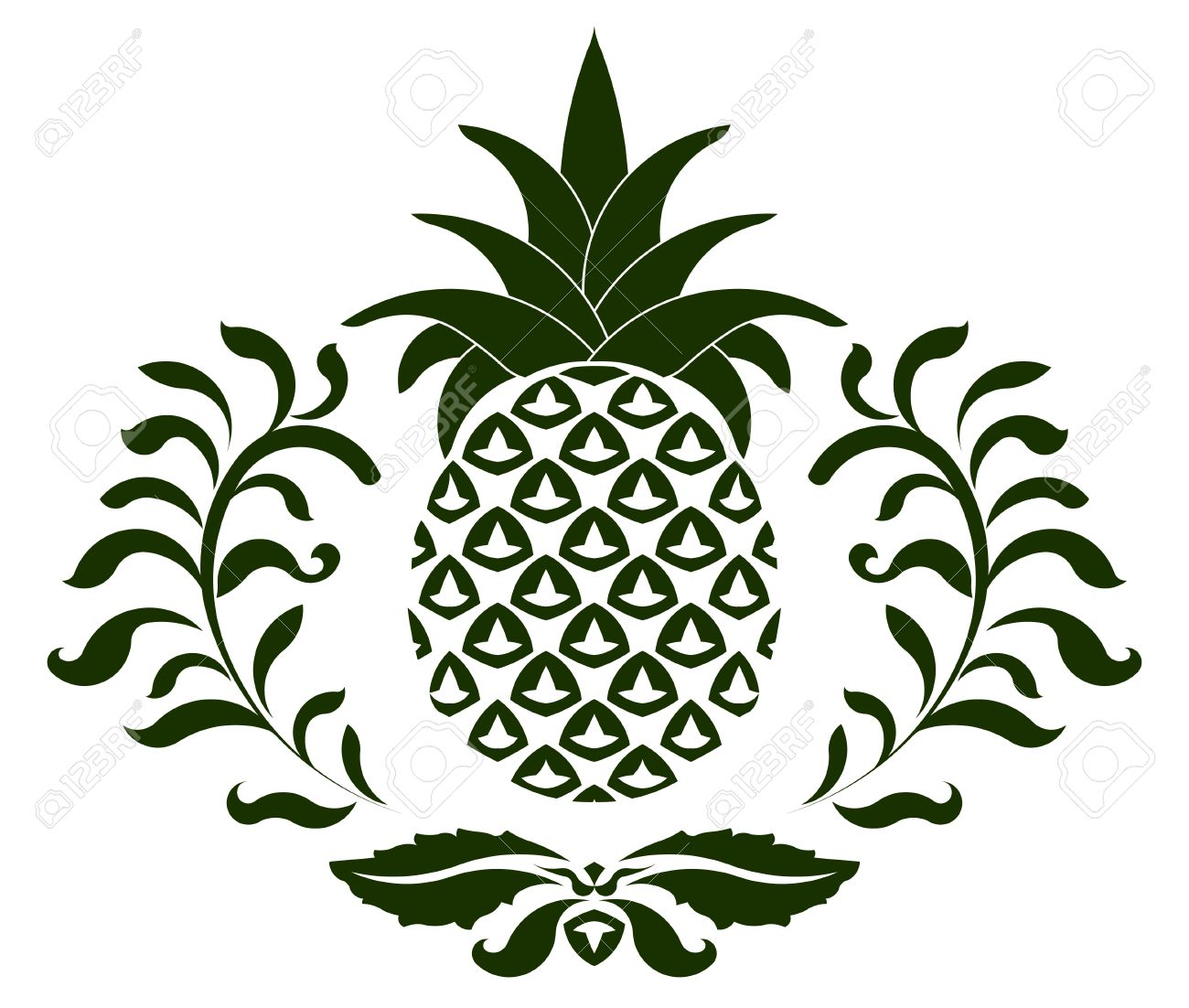 Pineapple Icon Symbol Of Hospitality Vector Illustration You Can