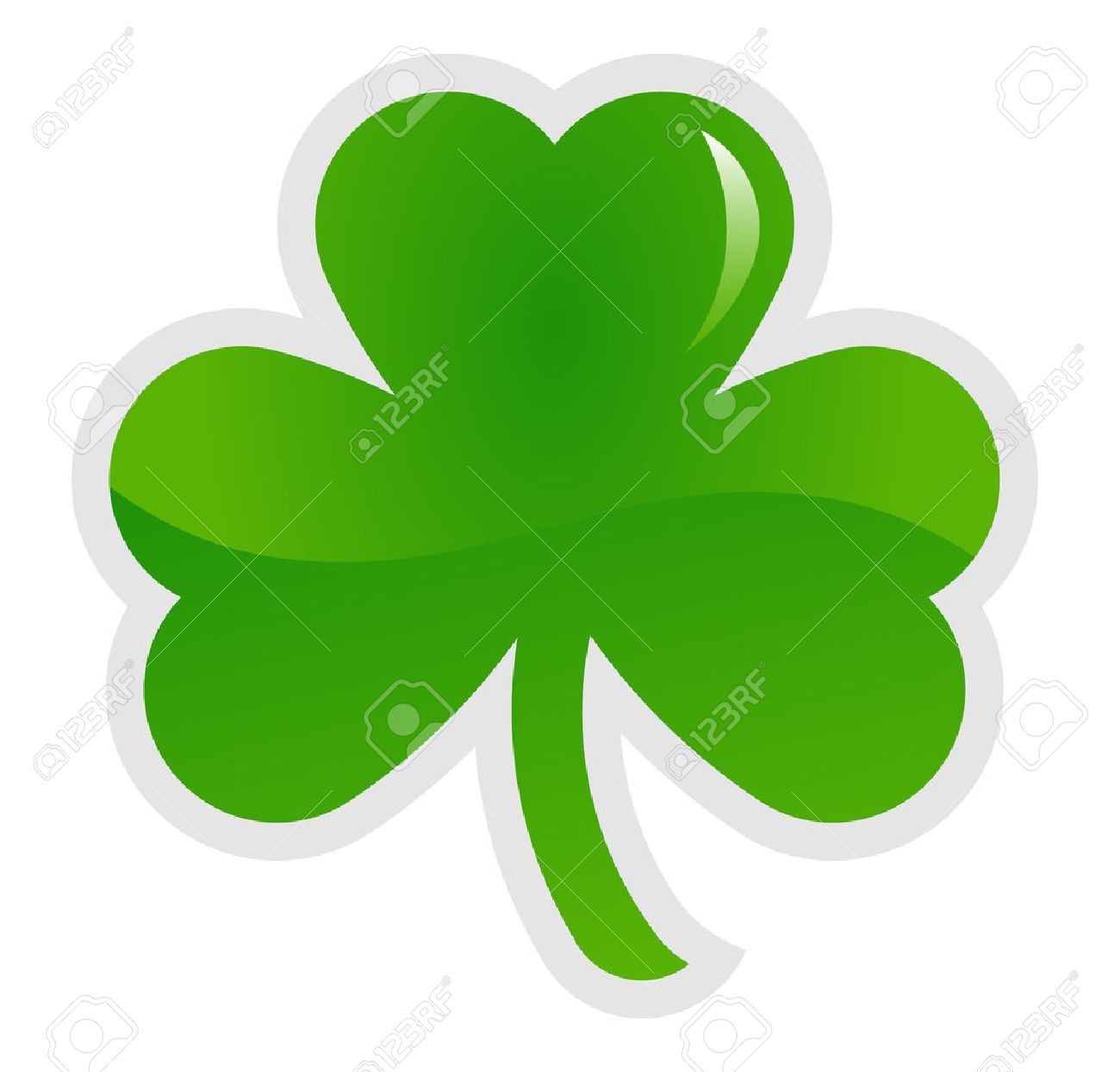 green shamrock three leaf clover vector illustration royalty free rh 123rf com shamrock vector art shamrock vector file