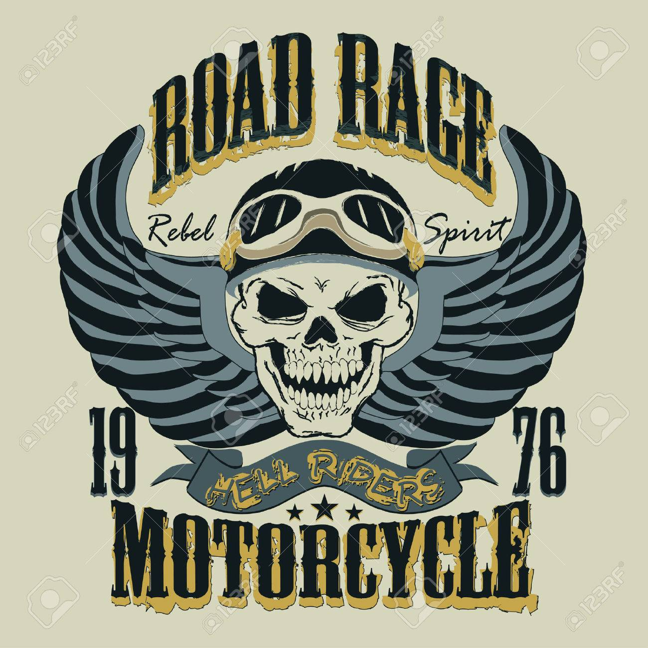 Desain t shirt racing - Desain T Shirt Racing Design T Shirt Bikers Motorcycle T Shirt Design Skull With A