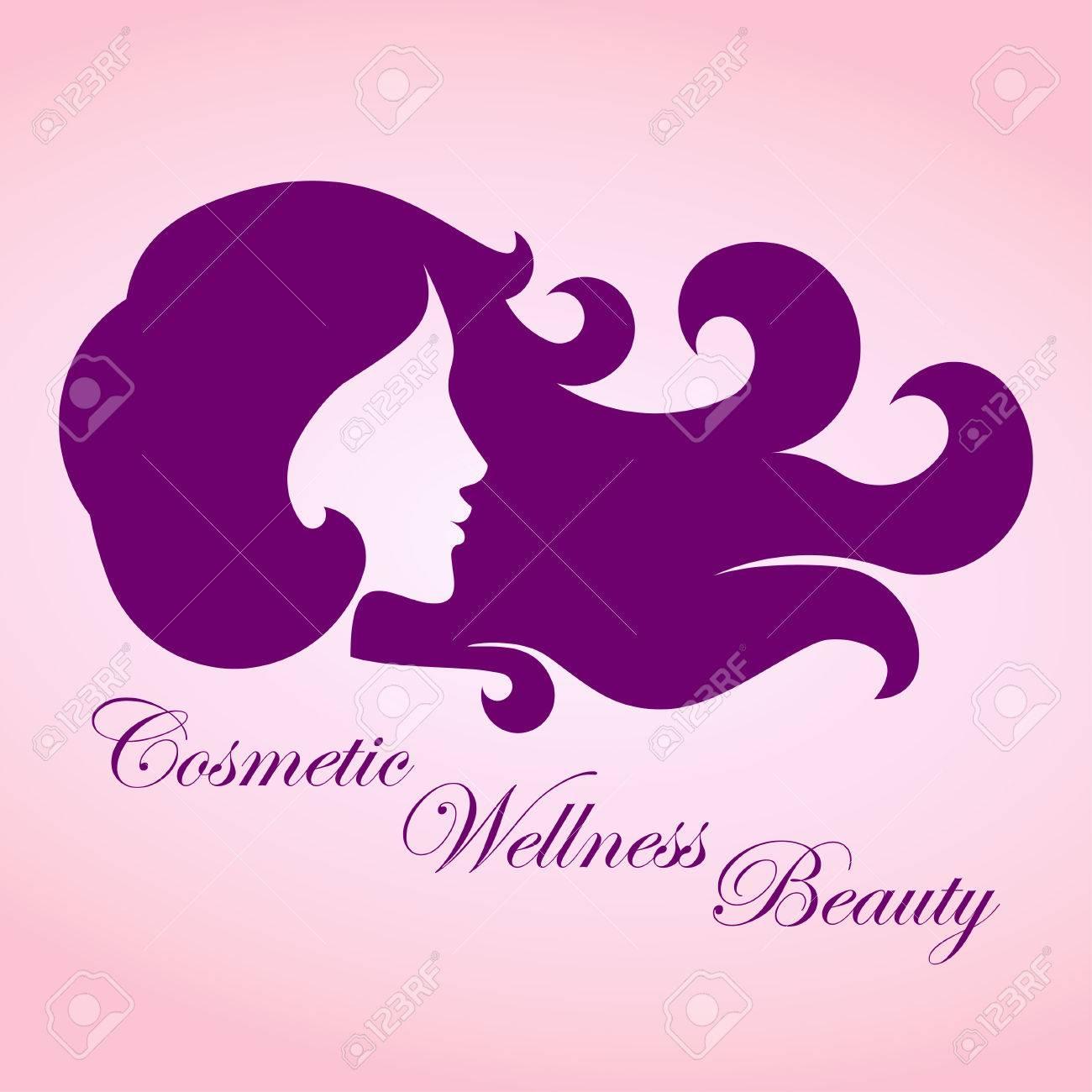 Beauty girl with curly hair logo business sign template for beauty girl with curly hair logo business sign template for beauty industry cosmetic salon wajeb Choice Image