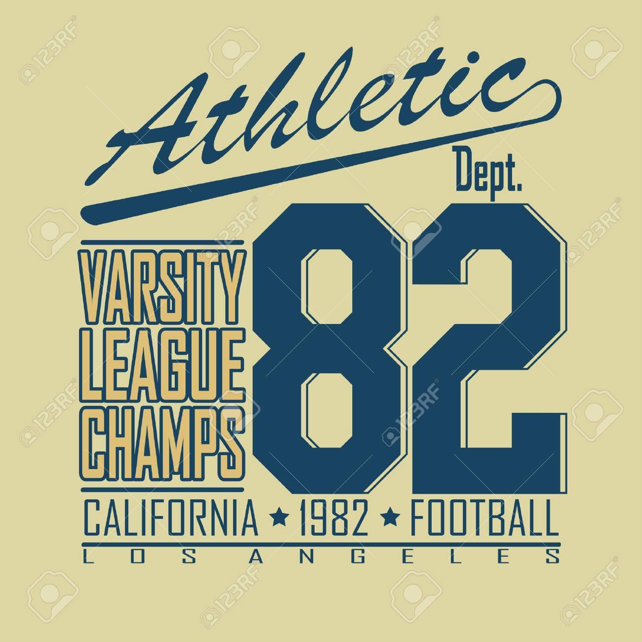 e0a31a88e California Sport Typography, Varsity Football Athletic Dept. T-shirt  fashion design graphics,