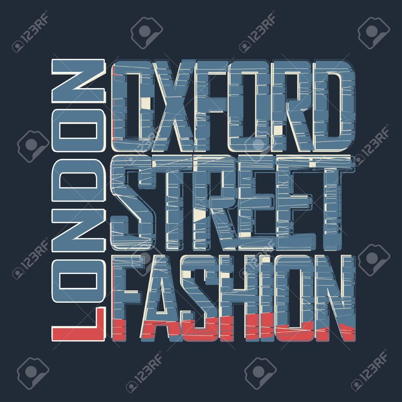 Shirt design london - London Typography Graphics T Shirt Design Oxford Street England Great Britain
