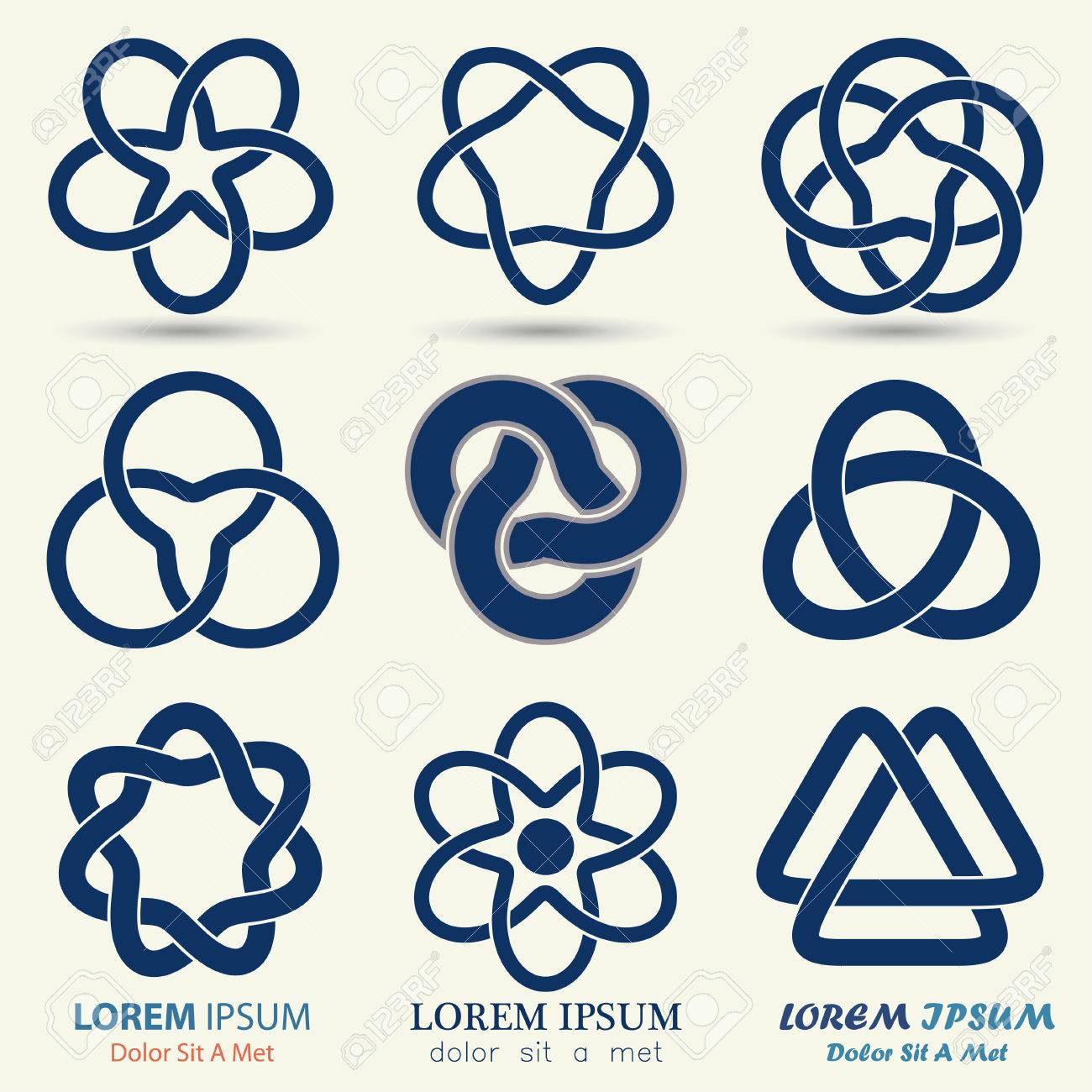 44120 knot stock illustrations cliparts and royalty free knot business emblem set blue knot symbol curve looped icon vector illustration biocorpaavc