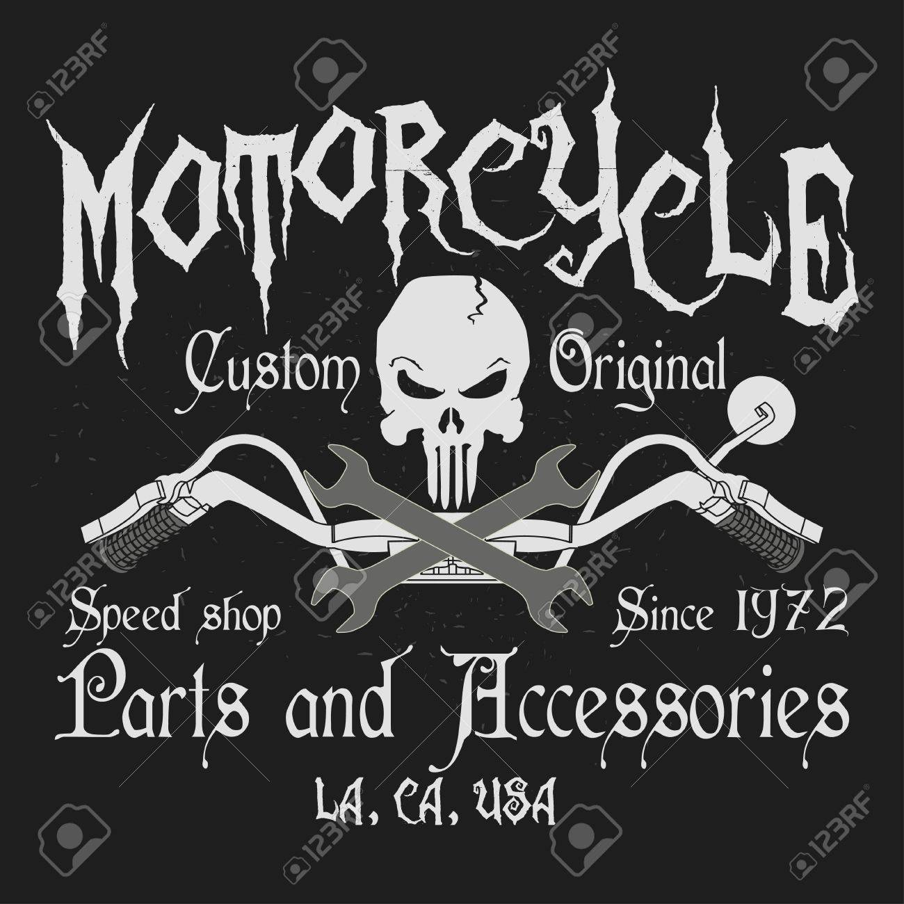 Motorcycle Typography Graphics Parts And Accessories Shop Logo