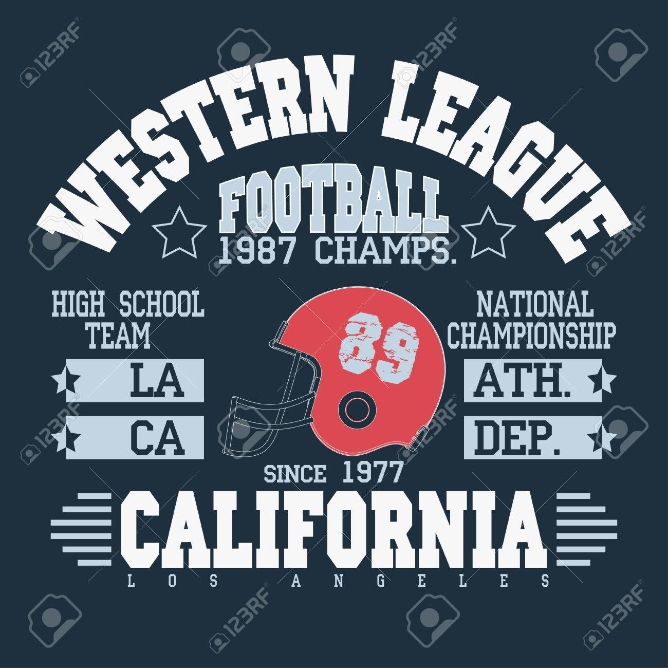 0e196b45d California Sport Typography, Football Athletic T-shirt fashion design  graphics, Vintage Print for