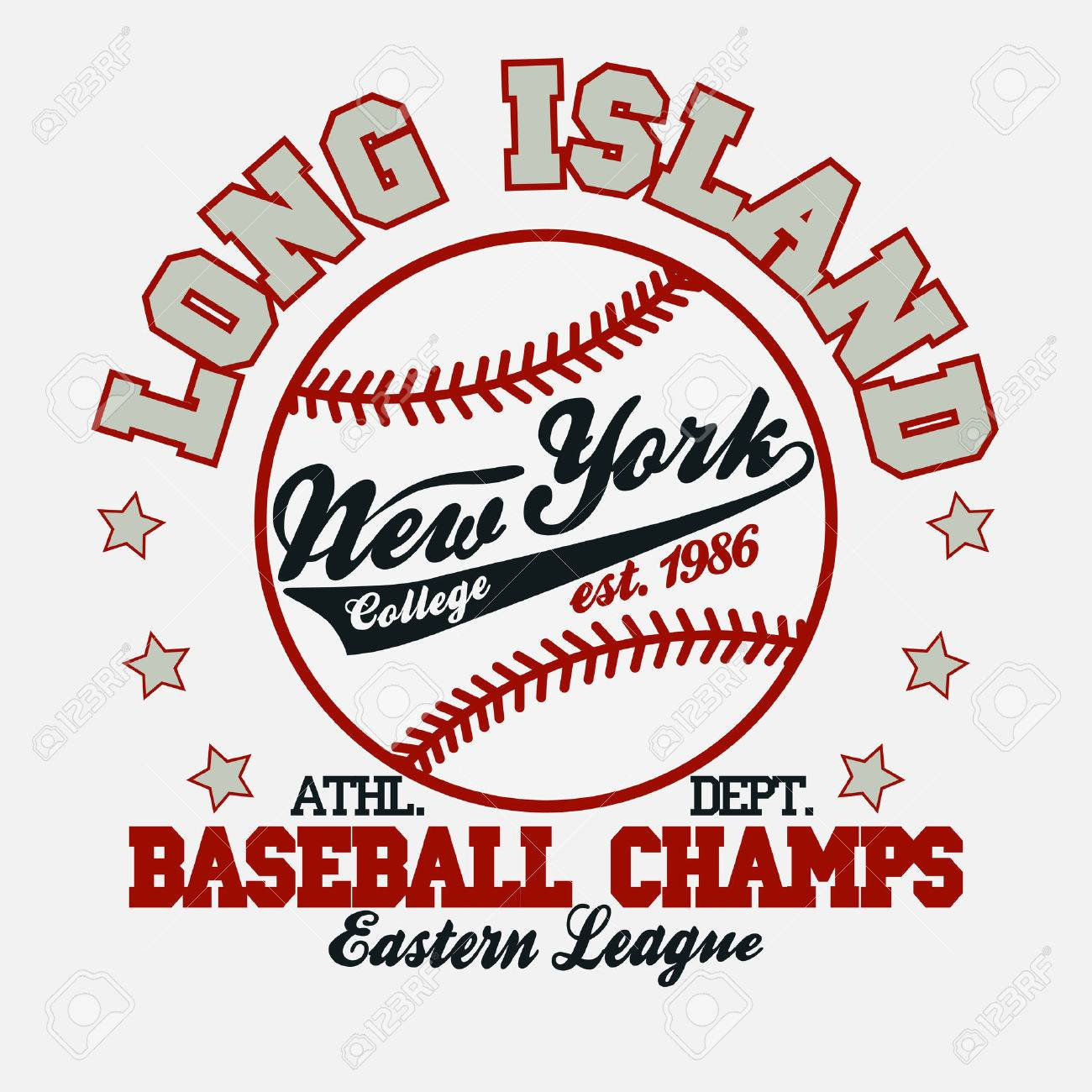 Baseball Fashion Typography Graphics. New York Sport T-Shirt