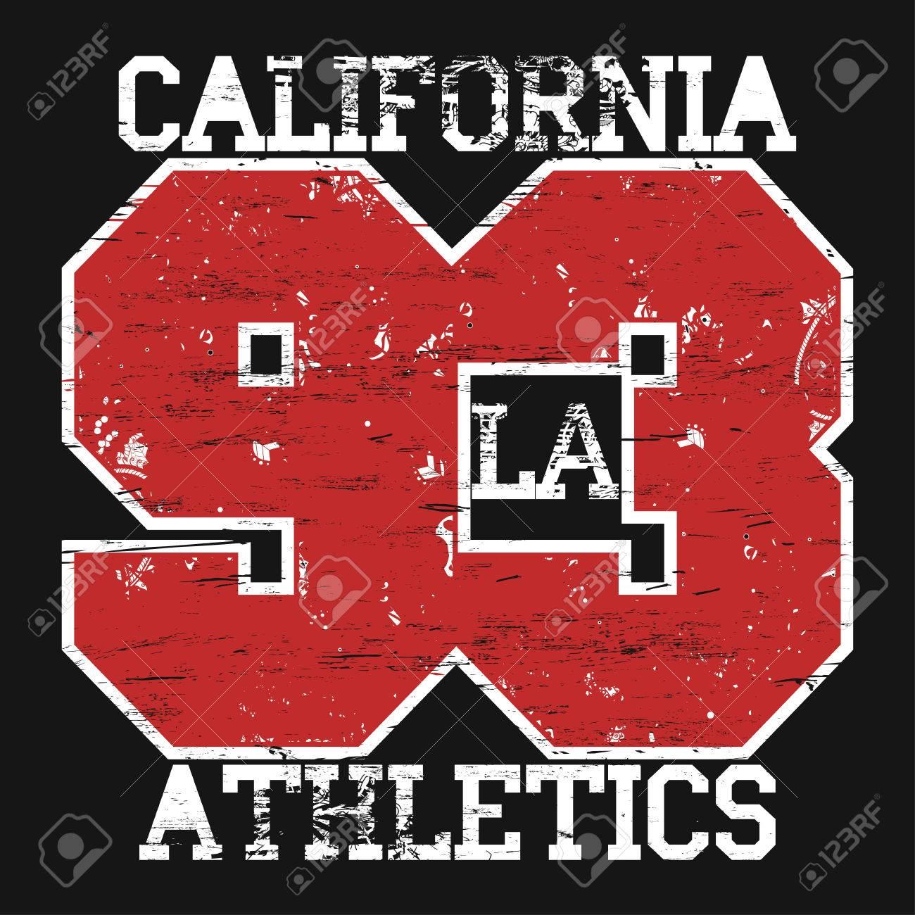 Shirt design los angeles - California Sport T Shirt Grunge Design Los Angeles City Typography Graphics Vector Stock