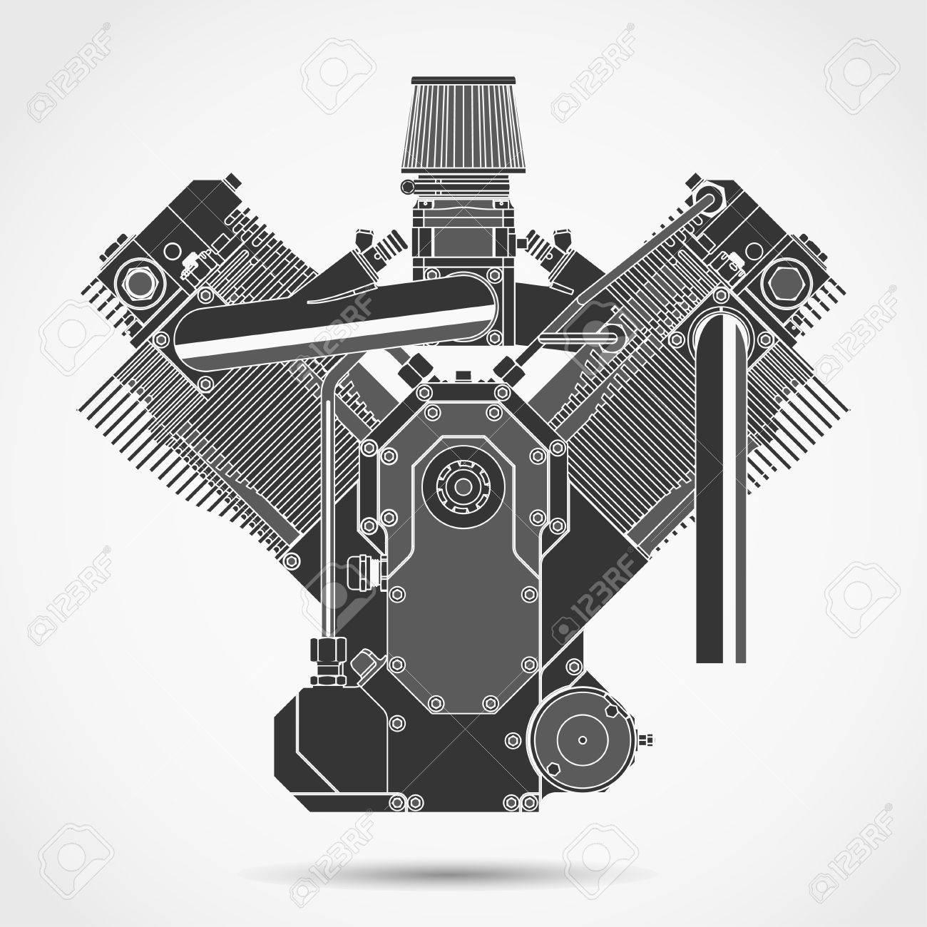 Motorcycle Engine, Car Motor Machine Parts, Engineering Gear ...